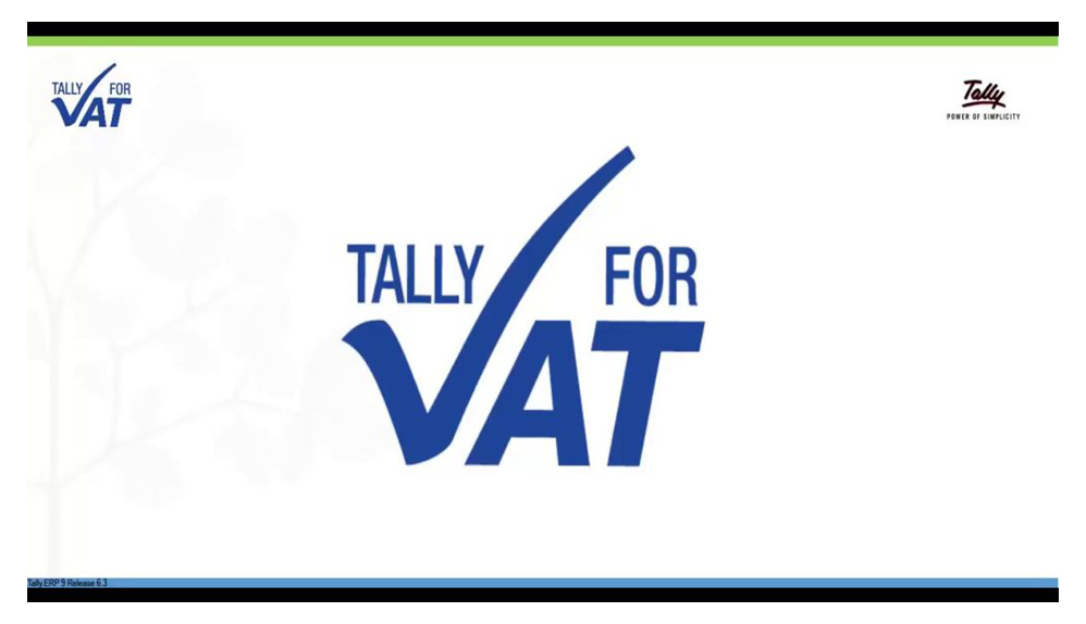 VAT Enabled Tally Software Dubai